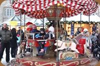 Carousel at the Christmas Market in Brixon