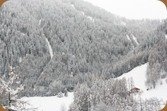 Snowy moutainside