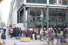 Line around the Anne Frank House.