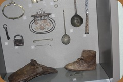 Leather shoes & other relics